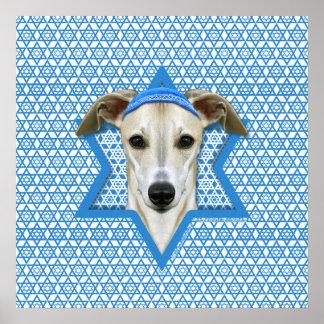Estrella de Jánuca de David - Whippet Posters