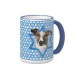 Estrella de Jánuca de David - Whollie - conejo Tazas De Café