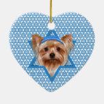 Estrella de Jánuca de David - Yorkshire Terrier Adornos