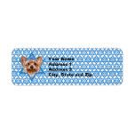 Estrella de Jánuca de David - Yorkshire Terrier Etiquetas De Remite