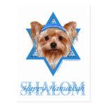 Estrella de Jánuca de David - Yorkshire Terrier Postal