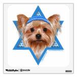 Estrella de Jánuca de David - Yorkshire Terrier Vinilo Decorativo