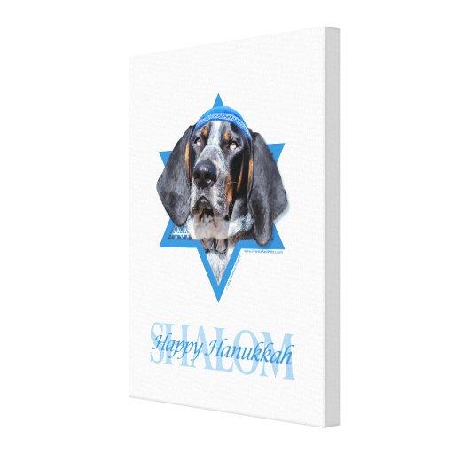 Estrella de Jánuca de la tirada de David - del Coo Impresión En Lienzo Estirada