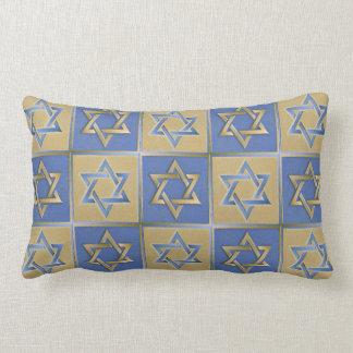 Estrella de Judaica de la almohada del azul del Cojín Lumbar