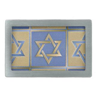 Estrella de Judaica del azul del oro del metal de  Hebillas Cinturon
