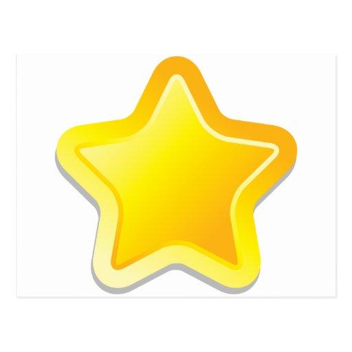 Estrella de Kawaii Postales