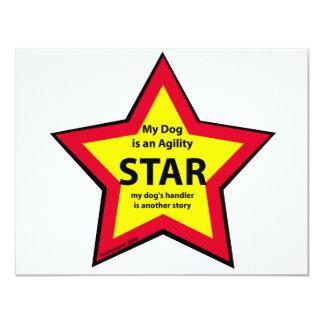 """Estrella de la agilidad invitación 4.25"""" x 5.5"""""""