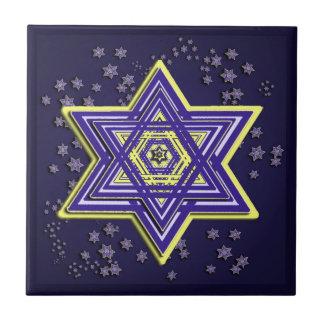 Estrella de la baldosa cerámica de David Tejas
