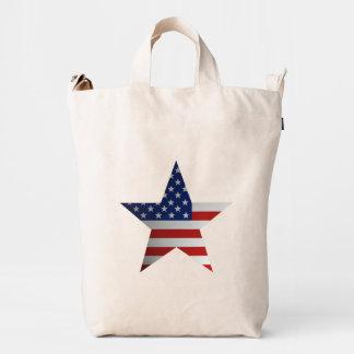 Estrella de la bandera americana bolsa de lona duck