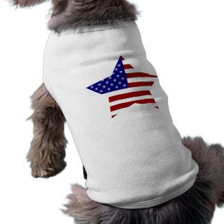 Estrella de la bandera americana playera sin mangas para perro