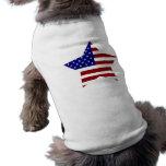Estrella de la bandera americana prenda mascota
