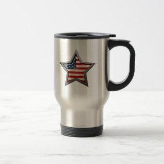 Estrella de la bandera americana tazas de café