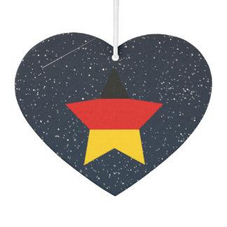 Estrella de la bandera de Alemania en espacio
