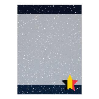 """Estrella de la bandera de Bélgica en espacio Invitación 5"""" X 7"""""""