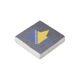 Estrella de la bandera de Bosnia y Hercegovina Imán De Piedra