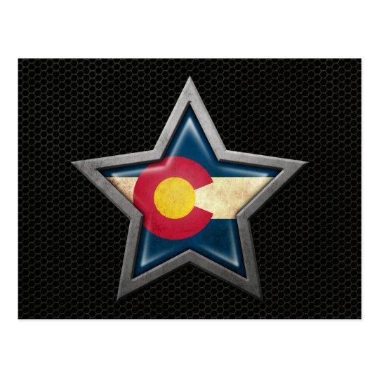 Estrella de la bandera de Colorado con el efecto d Tarjetas Postales
