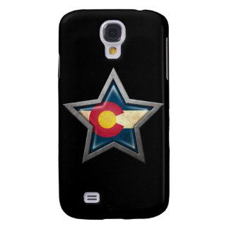 Estrella de la bandera de Colorado en negro Funda Para Galaxy S4