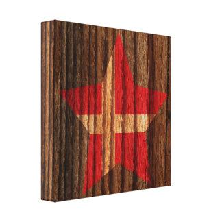 Estrella de la bandera de Dinamarca en el tema de Lona Estirada Galerías