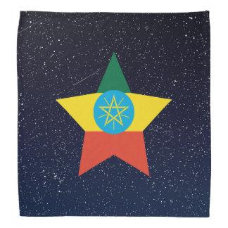 Estrella de la bandera de Etiopía en espacio Bandana