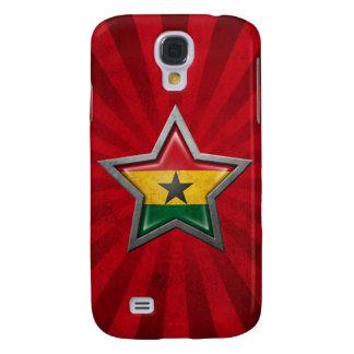 Estrella de la bandera de Ghana con los rayos de l Funda Para Galaxy S4