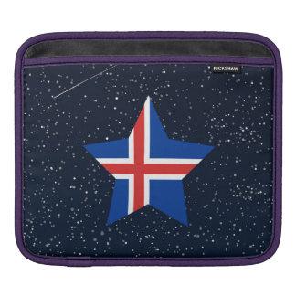 Estrella de la bandera de Islandia en espacio Mangas De iPad