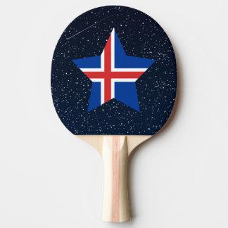 Estrella de la bandera de Islandia en espacio Pala De Ping Pong