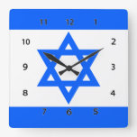 Estrella de la bandera de Israel del reloj de pare