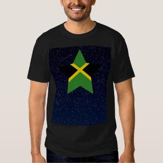 Estrella de la bandera de Jamaica en espacio Playeras