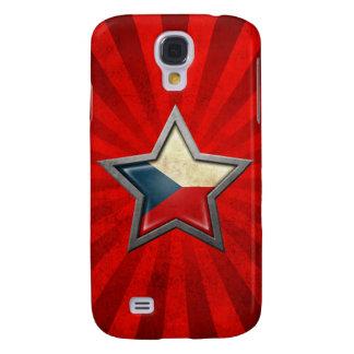 Estrella de la bandera de la República Checa con l Funda Para Galaxy S4
