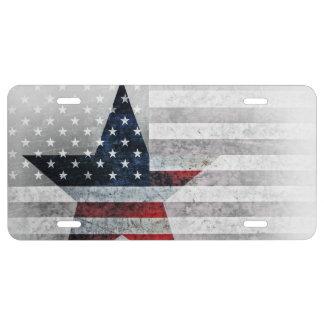 Estrella de la bandera de los E.E.U.U. Placa De Matrícula