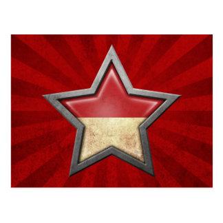 Estrella de la bandera de Mónaco con los rayos de  Postales
