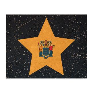 Estrella de la bandera de New Jersey en espacio Impresión En Corcho