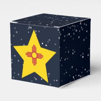 Estrella de la bandera de New México en espacio Cajas Para Regalos De Boda