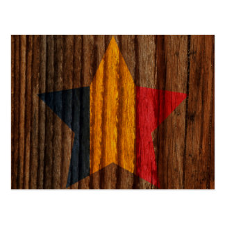 Estrella de la bandera de República eo Tchad en el Postales