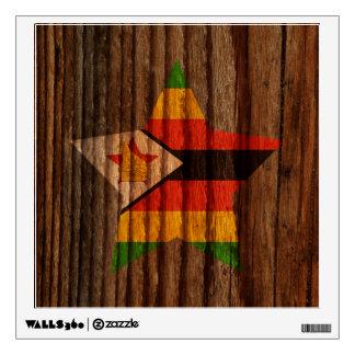 Estrella de la bandera de Zimbabwe en el tema de