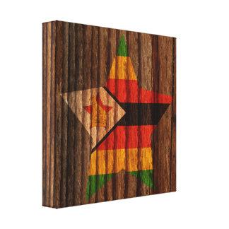 Estrella de la bandera de Zimbabwe en el tema de Lona Estirada Galerias