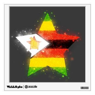 Estrella de la bandera de Zimbabwe que brilla