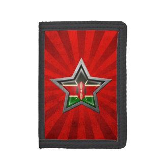 Estrella de la bandera del Kenyan con los rayos de