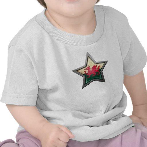 Estrella de la bandera Galés Camiseta