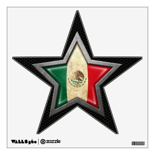 Estrella de la bandera mexicana con el efecto de a