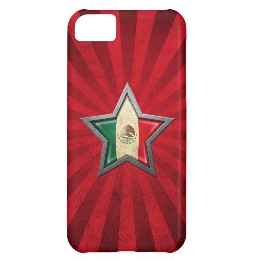 Estrella de la bandera mexicana con los rayos de l