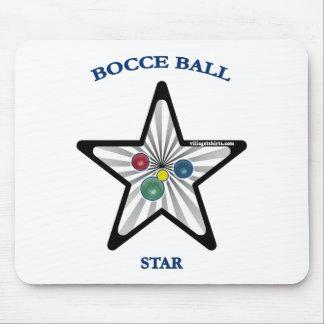 Estrella de la bola de Bocce Alfombrilla De Ratón