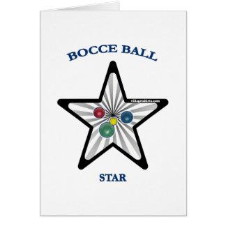 Estrella de la bola de Bocce Tarjeton