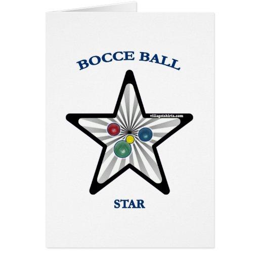 Estrella de la bola de Bocce Tarjeta De Felicitación