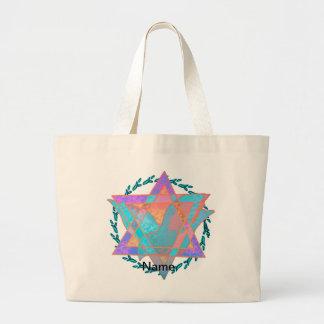 Estrella de la bolsa de asas enorme multicolora