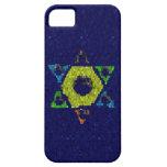 Estrella de la caja azul del iphone 5 del brillo d iPhone 5 Case-Mate cobertura