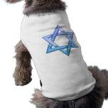 Estrella de la camisa del mascota de David Camisetas De Perrito