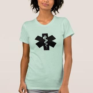 Estrella de la camiseta del pictograma de la vida remera