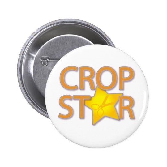 Estrella de la cosecha pin redondo de 2 pulgadas