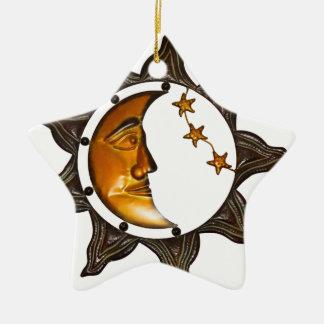 estrella de la decoración de la pared adorno navideño de cerámica en forma de estrella